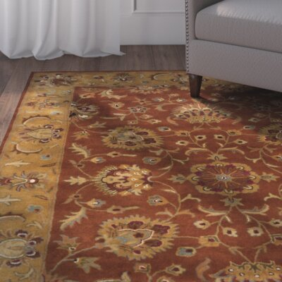 Cranmore Red/Natural Rug Rug Size: Novelty Square 6