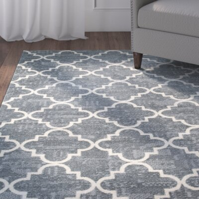 Orwin Fancy Trellis Gray/White Area Rug Rug Size: 7'6 x 10'