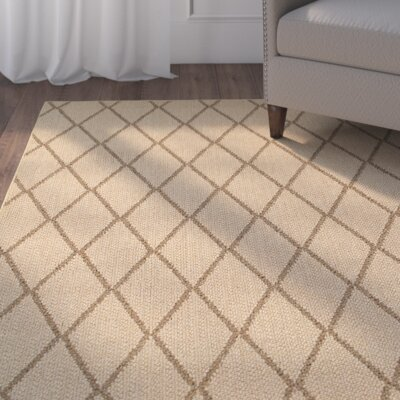 Carondelet Beige Indoor/Outdoor Area Rug Rug Size: 52 x 76