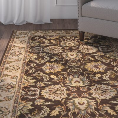 Cranmore Brown/Ivory Area Rug COLOR: Brown / Ivory, Rug Size: Rectangle 96 x 136