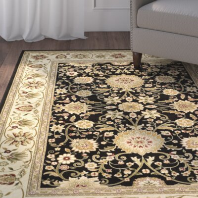 Ottis Black/Cream Area Rug