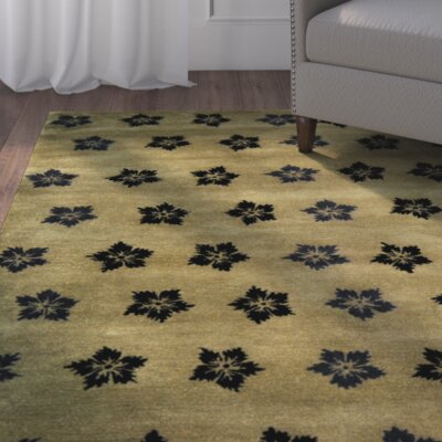 Alvan Sage/Black Area Rug