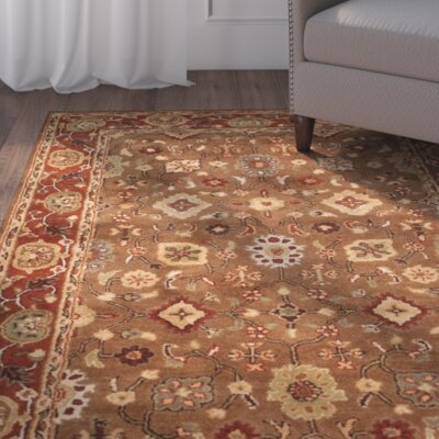 Cranmore Moss/Rust Area Rug Rug Size: 76 x 96