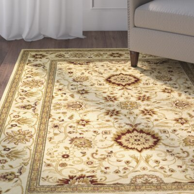 Ottis Ivory Area Rug Rug Size: Rectangle 9 x 12