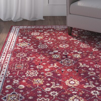 Gilson Claret Area Rug Rug Size: Rectangle 53 x 76