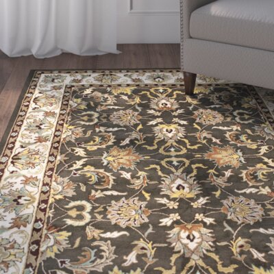 Cranmore Black/Ivory Area Rug Rug Size: Rectangle 76 x 96
