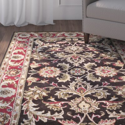 Cranmore Chocolate/Red Area Rug