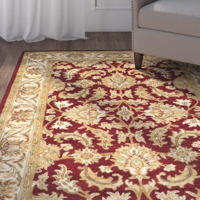 Cranmore Red/Ivory Floral Area Rug