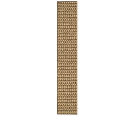 Carondelet Brown/Sand Outdoor Area Rug Rug Size: Runner 110 x 76