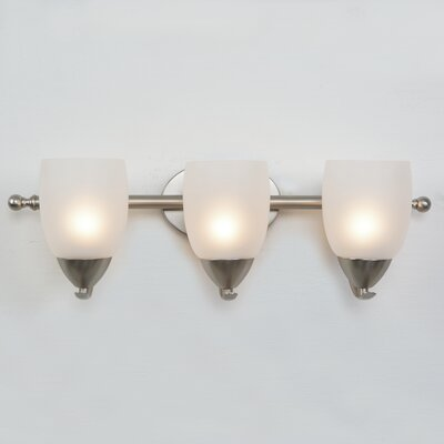 Monrovia 3-Light Vanity Light Finish: Brushed Nickel