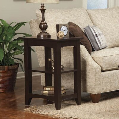 Birch Creek Two Shelf End Table Finish: Chocolate