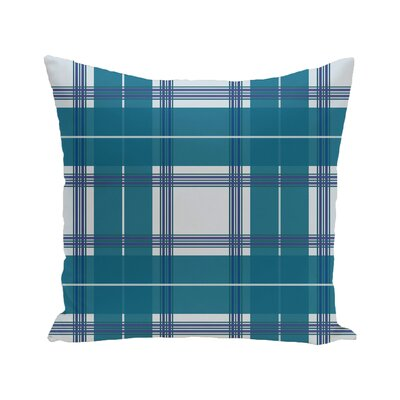 Abbot Plaid Geometric Print Outdoor Pillow Color: Bordeaux, Size: 16