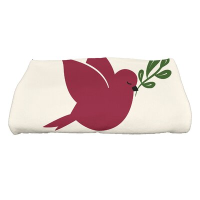 Dreiling Christmas Noel Bird Bath Towel Color: Cranberry
