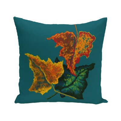 Adele Flower Print Throw Pillow Color: Teal, Size: 18