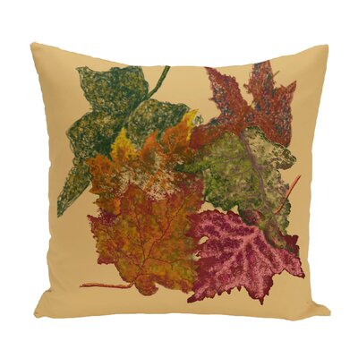 Agnes Flower Print Throw Pillow Color: Brown, Size: 16
