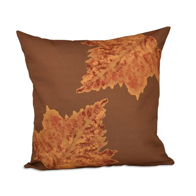Aileen Flower Print Throw Pillow Size: 16 H x 16 W, Color: Gold
