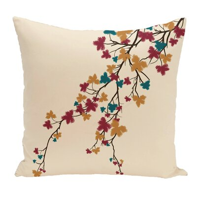 Argon Flower Print Floor  Pillow Color: Orange