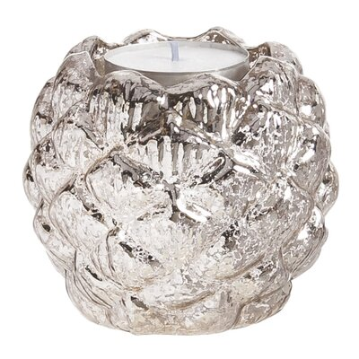 Charlton Home Pinecone Mercury Glass Votive