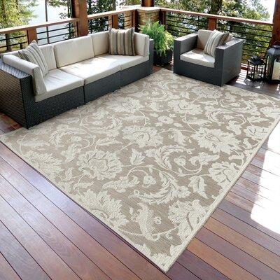Aster Beige Indoor/Outdoor Area Rug Rug Size: 77 x 1010