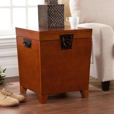 Boneta End Table With Storage Color: Mission Oak