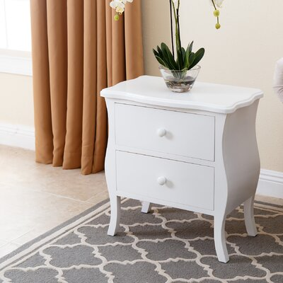 Worth 2 Drawer Nightstand Finish: White