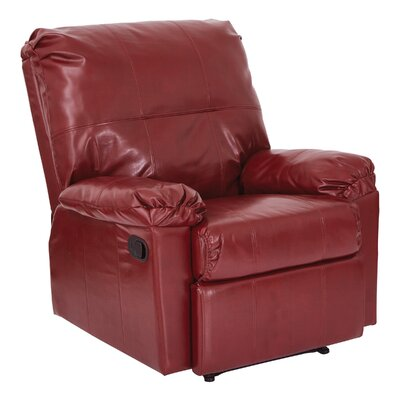Androscogin Manual Recliner Upholstery: Merlot