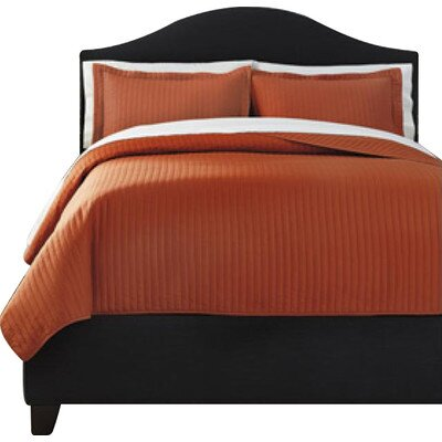 Brookfield 3 Piece Comforter Set Size: King, Color: Rust