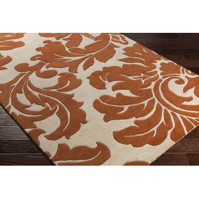 Rubin Hand-Woven Rust/Neutral Area Rug Rug Size: Rectangle 4 x 6