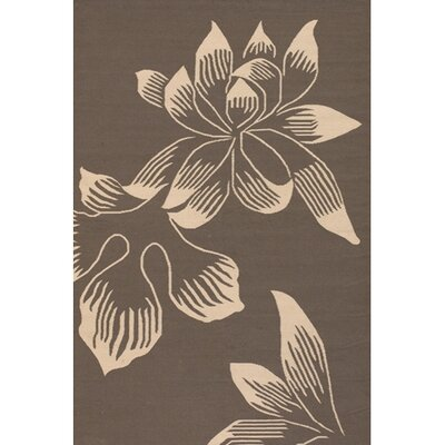 Emily Brown Area Rug Rug Size: 5 x 76