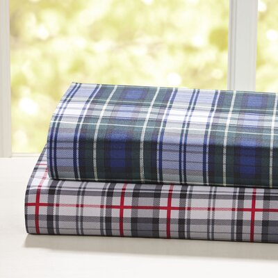 Pineview Plaid Sheet Set Size: Queen, Color: Navy