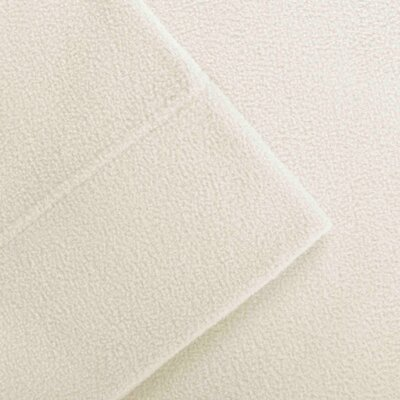 Butlerville 4 Piece Micro Fleece Sheet Set Color: Ivory, Size: Cal King