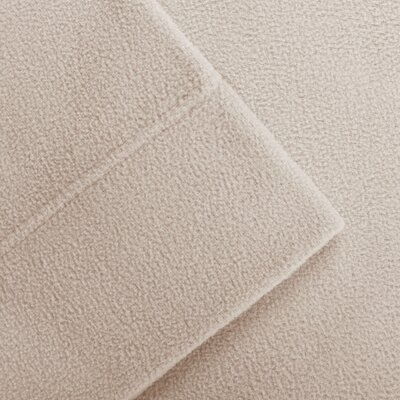 Butlerville 4 Piece Micro Fleece Sheet Set Color: Khaki, Size: Cal King