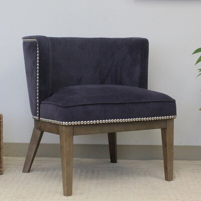 Bermuda Petite Barrel Chair Upholstery: Purple