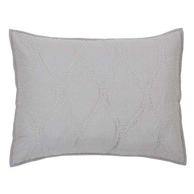 Reba Sham Size: Standard, Color: Gray