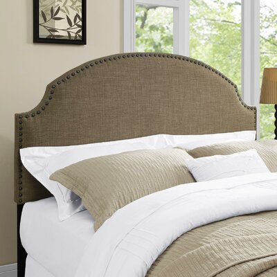 Rowland Queen Upholstered Panel Headboard Upholstery: Chocolate