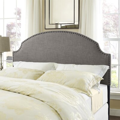 Rowland Queen Upholstered Panel Headboard Upholstery: Gray