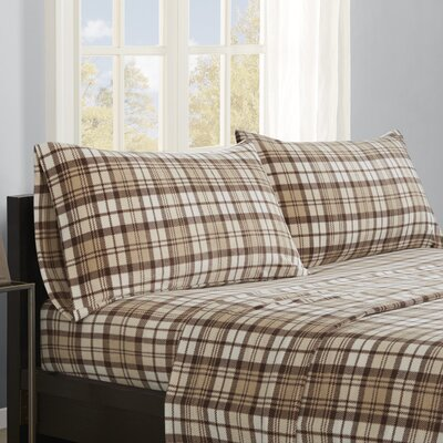 Abingdon Sheet Set Size: King, Color: Tan Plaid