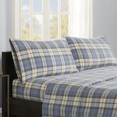 Abingdon Sheet Set Size: King, Color: Blue Plaid