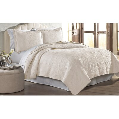 Mackay Quilt Set Size: Twin, Color: Ivory