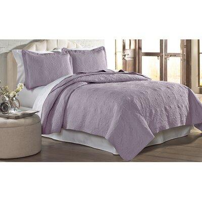 Mackay Quilt Set Size: Twin, Color: Lavender