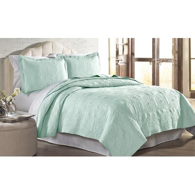 Mackay Quilt Set Size: King, Color: Soft Jade