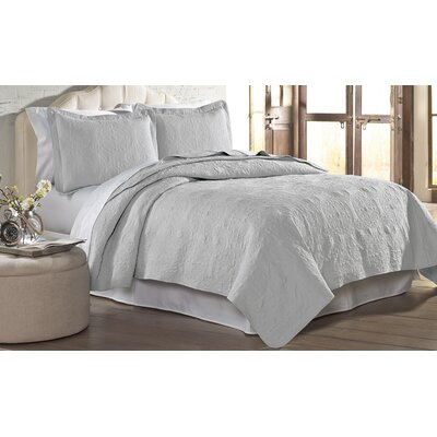 Mackay Quilt Set Size: King, Color: Silver