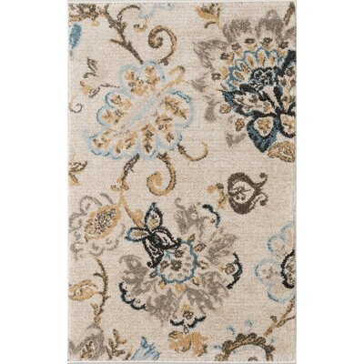 Russell Cream/Blue Area Rug Rug Size: 2 x 3