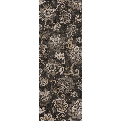Russell Charcoal Area Rug Rug Size: Runner 2'7