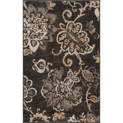 Russell Charcoal Area Rug Rug Size: 2 x 3