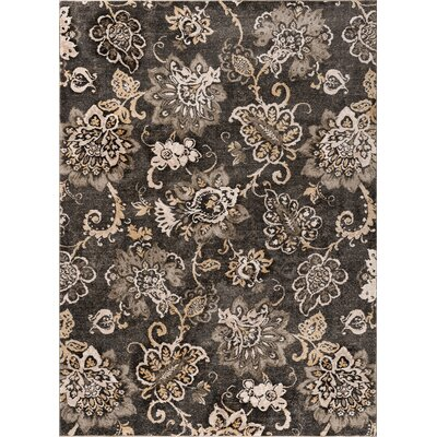 Russell Charcoal Area Rug Rug Size: 53 x 73