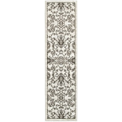 Behrens White/Brown Area Rug Rug Size: Runner 11 x 71