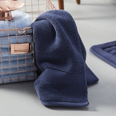 Clayton 3 Piece Zero-Twist Towel Set Color: Midnight
