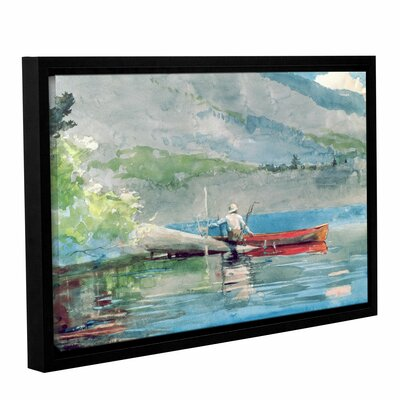 'The Red Canoe, 1884' by Winslow Homer Framed Painting Print CHLH8295 34128854
