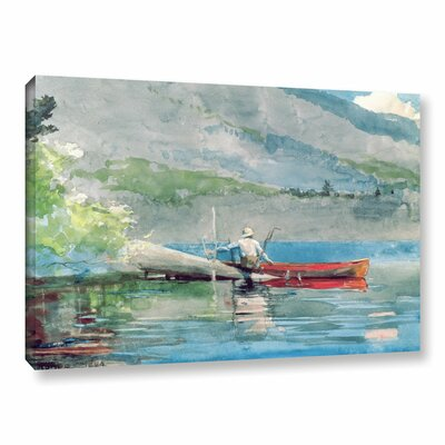 'The Red Canoe, 1884' by Winslow Homer Painting Print on Wrapped Canvas CHLH8296 34128859
